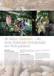 20 Jahre «Mascao» – die erste Fairtrade ... - claro fair trade AG