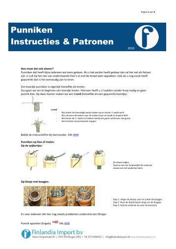 Punniken Instructies & Patronen - Finlandia