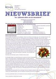 Nieuwsbrief 15 - Olivijn - Stichting Almere Speciaal