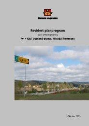 Planprogram - Statens vegvesen