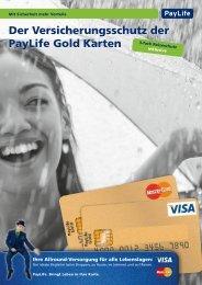 Der Versicherungsschutz der PayLife Gold Karten - Kreditkarte.at