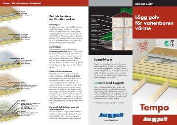 Lägg golv för vattenburen värme - byggevarer.net