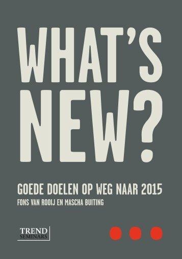 Goede doelen op weG naar 2015 - CBF