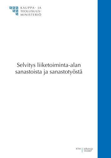 Selvitys liiketoiminta-alan sanastoista ja sanastotyöstä - KTM ...