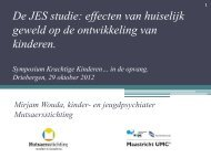 De JES studie: effecten van huiselijk geweld op de ontwikkeling van ...