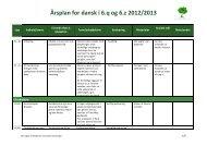 Årsplan for dansk i 6.q og 6.z 2012/2013