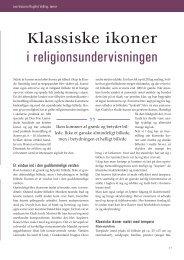 Klassiske ikoner i religionsundervisningen af - Kirken Underviser