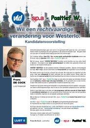 Wil een rechtvaardige verandering voor Westerlo. - Open VLD ...