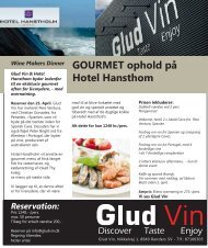 GOURMET ophold på Hotel Hansthom Reservation - Glud Vin