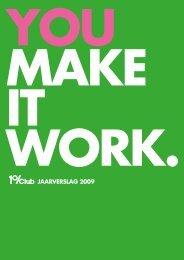 JAARVERSLAG 2009 - 1%Club