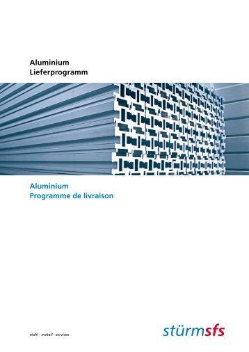 Aluminium Programme de livraison Aluminium ... - stuerm.sk