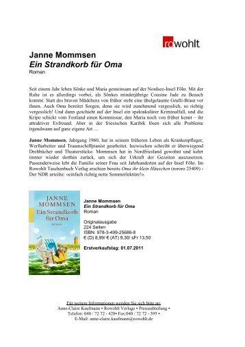 Janne Mommsen Ein Strandkorb für Oma - Fuxx-online.de