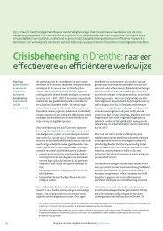 Crisisbeheersing in Drenthe: naar een effectievere en ... - Crisislab