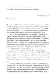 Brieven van Dikke Freddy aan minister Steven Vanackere ...