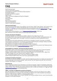 Business Navigator Raiffeisen Systemvoraussetzungen Versionen des