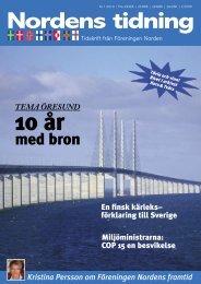 Nordens Tidning nr 1 2010 - Föreningen Norden