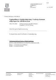 Upphandling av familjerådgivning i Varbergs kommun enligt lagen ...