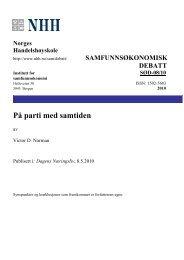 På parti med samtiden - Norges Handelshøyskole