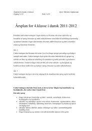 Årsplan for 4.klasse i dansk 2011-2012