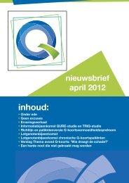 nieuwsbrief - Q-uestion, Stichting voor mensen met Q-koorts