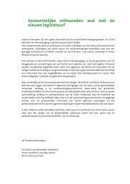 Gemeentelijke milieuraden - Bond Beter Leefmilieu