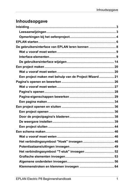 EPLAN Electric P8 beginners handboek (PDF)