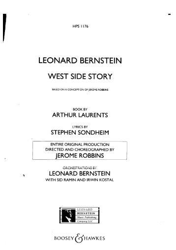 Bernstein - West Side Story Complete Score - Stcc.edu.hk