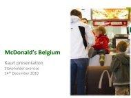 McDONALD'S BELGIE Bedrijfspresentatie 2010.pdf - Kauri