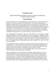1 Projektbeskrivning Kognitiv beteendeterapi ... - Internetpsykiatri