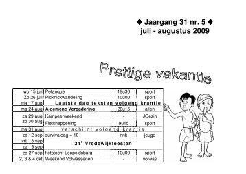 Jaargang 31 nr. 5 juli - augustus 2009