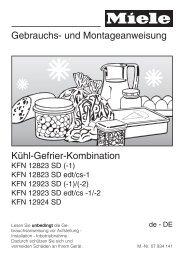Gebrauchs- und Montageanweisung Kühl-Gefrier-Kombination