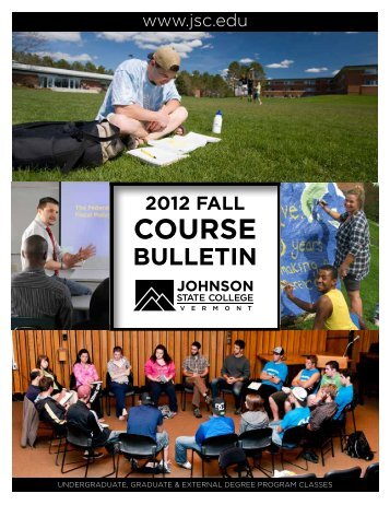 fall 2012 course bulletin - Johnson State College