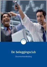 De beleggingsclub (docentenhandleiding) - Vecon