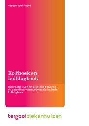 Kolfboek en kolfdagboek [130kb] Verloskunde - Tergooi