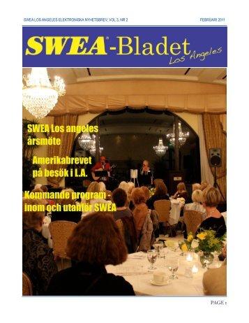 SWEA-Bladet februari 2011 - SWEA International