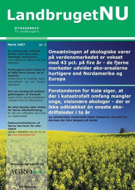 Se hele nyhedsbrevet i den originale version (pdf) - Agrogruppen ...
