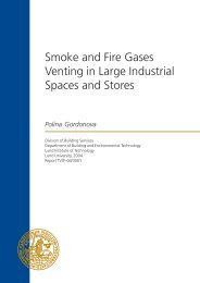 Smoke and Fire Gases Venting in Large Industrial Spaces and Stores