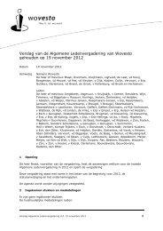 Verslag van de Algemene Ledenvergadering van Wovesto ...