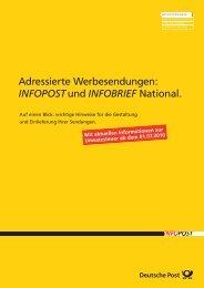 Adressierte Werbesendungen: INFOPOSTund INFOBRIEF National.