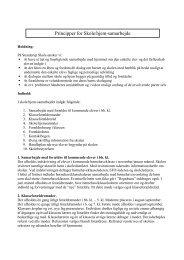 Principper for Skole/hjem-samarbejde - Stenderup Skole