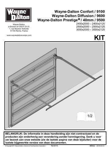 Notice technique automatisme pp60 pour porte wayne for Porte de garage wayne dalton confort 9100