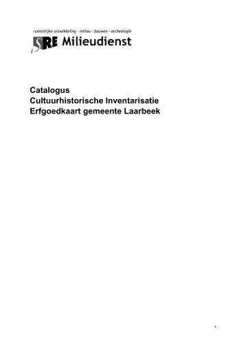Catalogus Cultuurhistorische Inventarisatie ... - De grote klok
