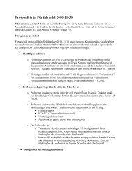 Protokoll från Föräldraråd 2010-11-30
