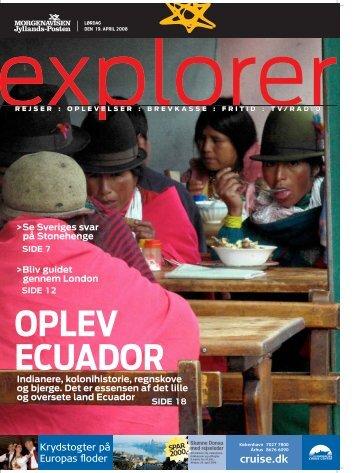Oplev Ecuador - stenstrup PR