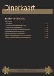 Koude voorgerechten - Herbergh Het Wapen van Friesland