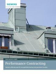 Performance Contracting - Industry - Siemens