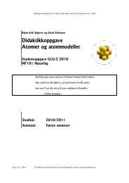 Didaktikkoppgave Atomer og atommodeller - skjoren.org