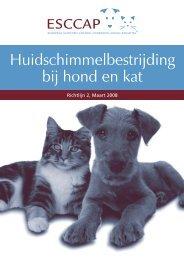 Huidschimmelbestrijding bij hond en kat - Esccap