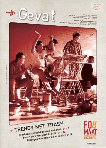 trendy met trash - Formaat