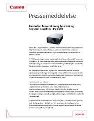 Download pressemeddelelsen [PDF, 130 KB] - Canon
